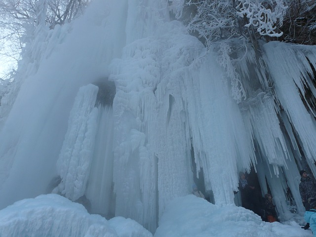 urach waterfall, frozen, winter, ice, icy, icicle