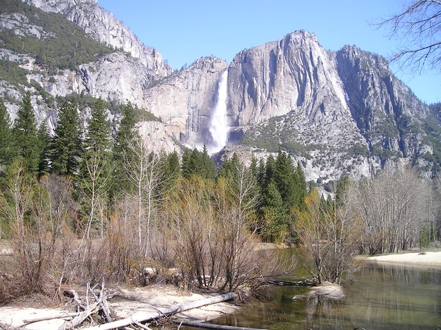 usa, yosemite, national park, waser fall, idyllic