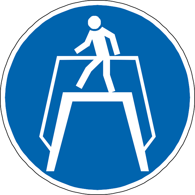 use walkway, pedestrian, walker, man, blue, sign