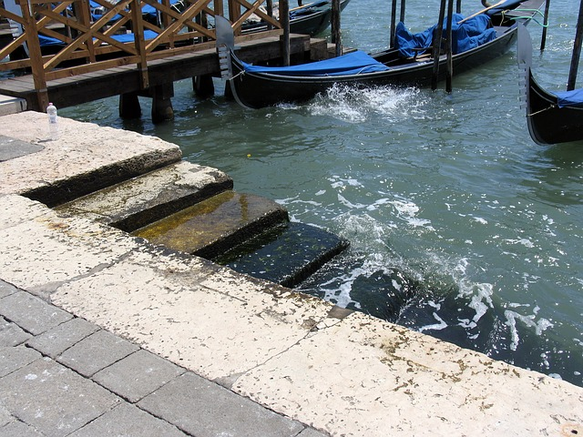 venice, stair, water