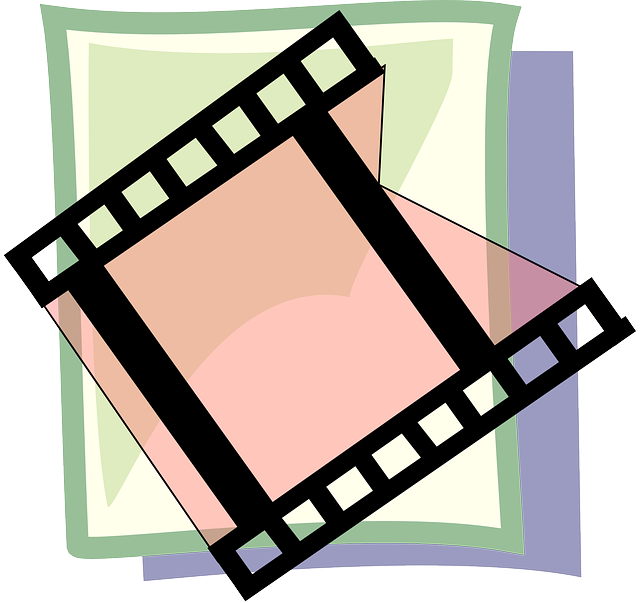video, flat, icon, theme, film