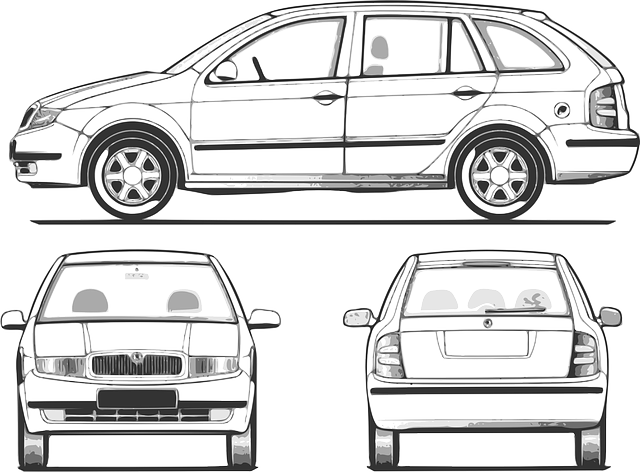 view, outline, car, transportation, compact, all, side