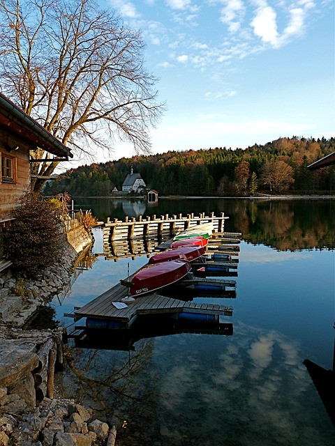 walchensee, upper bavaria, see, panorama, water, clouds
