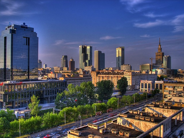 warsaw, poland, city, urban, cities, skyline