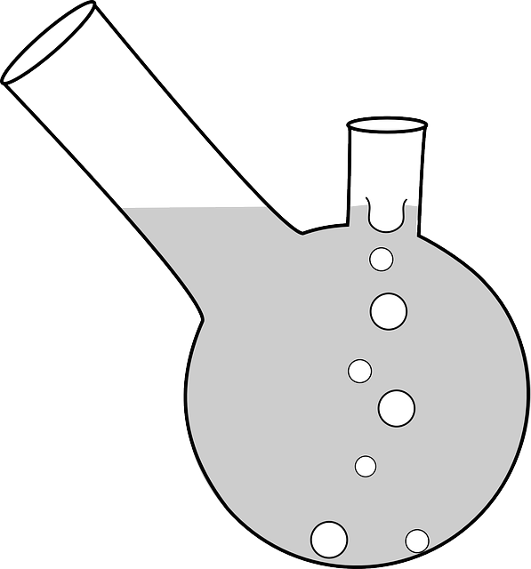 water, flat, icon, erlenmeyer, cartoon, double