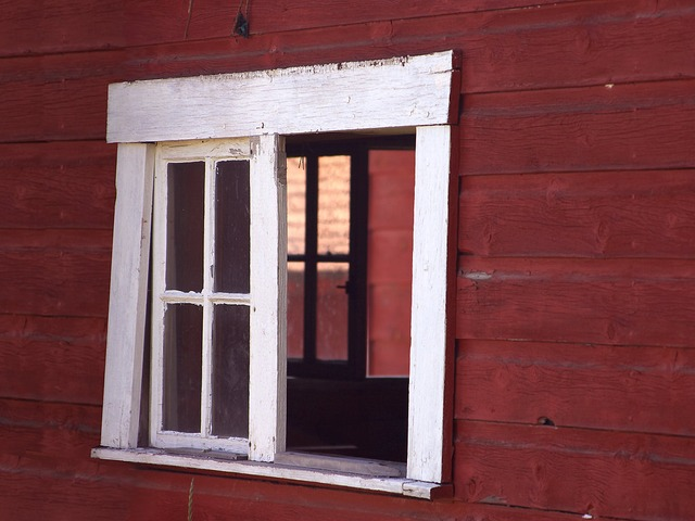 window, home, glass, shutters, frame, white, red, brown