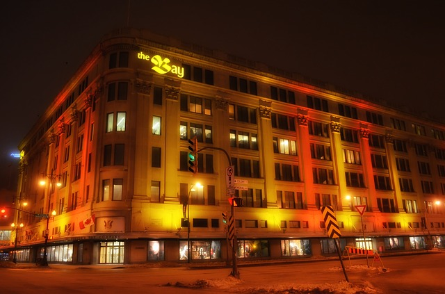 winnipeg, canada, building, hotel, architecture, night
