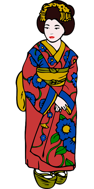 woman, clothing, dress, kimono, asian, oriental