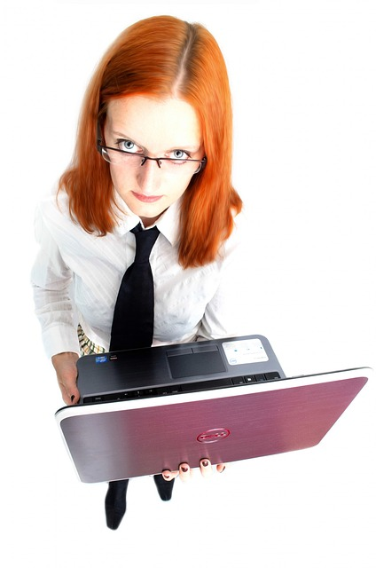 woman, girl, female, people, laptop, business, job