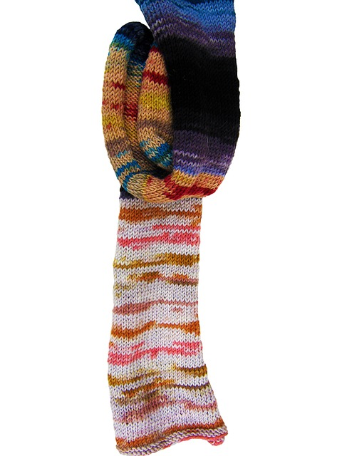 wool, cat's cradle, knit, colorful, hand labor, scarf
