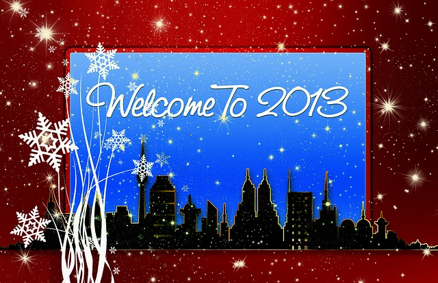 year, 2013, welcome, snow, snowflakes, ice, crystals