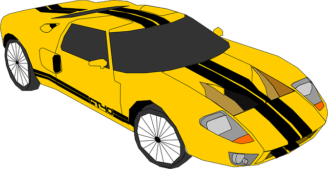 yellow, car, cartoon, transportation, autos, free