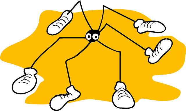 yellow, spider, background, long, legs, sneakers