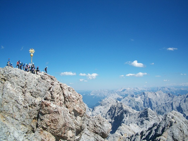 zugspitze, summit, panorama, outlook, rock, great
