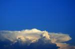 , clouds, white, dense, background, anvil shaped, flat