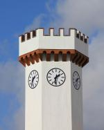 , white, sky, tower, clock, watches, time