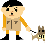 adolf hitler, angry, bad, character, funny, dog, leash