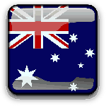 australia, flag, country, nationality, square, button
