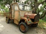 auto, oldtimer, truck, wreck, transport, corfu, vehicle