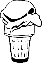 black, food, menu, outline, white, cartoon, free, ice