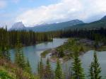 bow river, canadien rockys, mountains, river, water