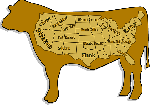 cattle, food, map, usa, satire, state, joints, cuts