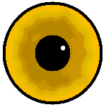 eyes, eye, black, yellow, circle, white, cartoon, dot