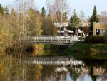finland, bridge, river, stream, water, reflections