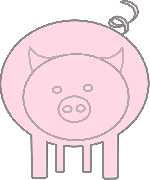 food, cartoon, farm, pink, pig, animal, pigs, shapes