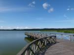 germany, sky, clouds, lake, water, reflections, pier