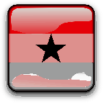 ghana, flag, country, nationality, square, button