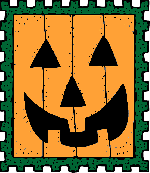 halloween, post, stamp, pumpkin, postal