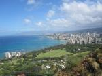 hawaii, honolulu, diamond head, city