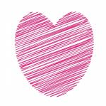 heart, pink, clipart, art, illustration, scribble