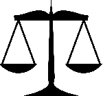 justice, law, measurement, silhouette, weight, scales