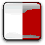 malta, flag, country, nationality, square, button