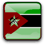mozambique, flag, country, nationality, square, button