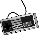 old, school, computer, video, controller, icon, outline