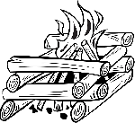 outline, fire, cartoon, free, wood, log, cooking, camp