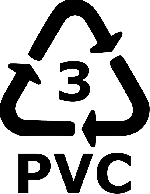 recycle, 3, pvc, recycling, plastic, sign, symbol, icon