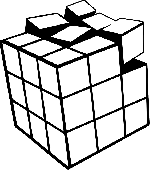 rubik's cube, cube, game, puzzle, toy, damaged, broken