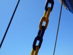 ship, transport, travel, chain, rust, steel chain
