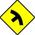 sign, symbol, traffic, road, street, warning, curves