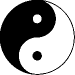 sign, symbol, yang, chinese, round, yin, religious, chi