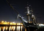 uss constitution, boston, massachusetts, night, evening
