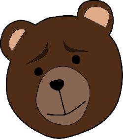, animal, bear, face, thinking, worried, mammal, brown