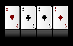 , cards, game, aces, four, diamonds, hearts, clubs