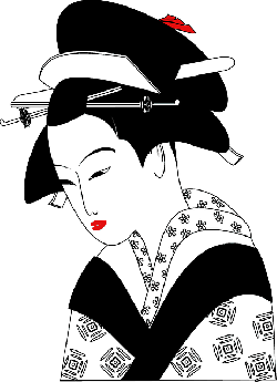 , chinese, woman, geisha, traditional, clothing, asian
