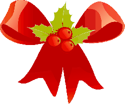, christmas, ribbon, red, holly, green, decoration, berry