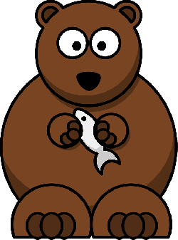 , circle, cartoon, fish, bear, holding, animals, baby